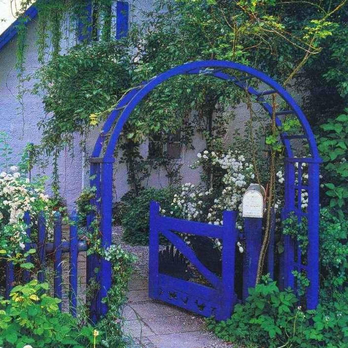 Всё в синих тонах забор арка для