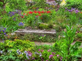 Скамейка для сада в естественном стиле