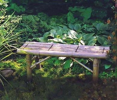 Бамбуковая скамейка