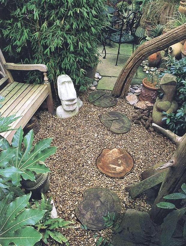 Этнический стиль сада