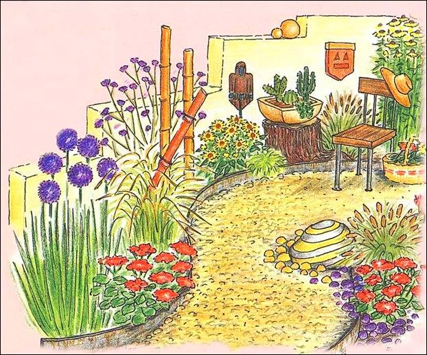 Сад в этническом стиле