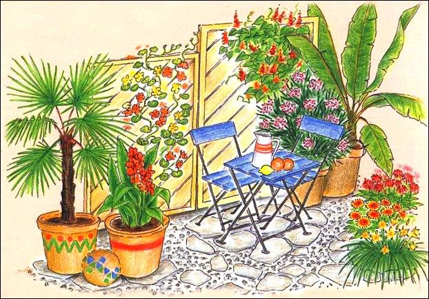 Сад в экзотическом стиле