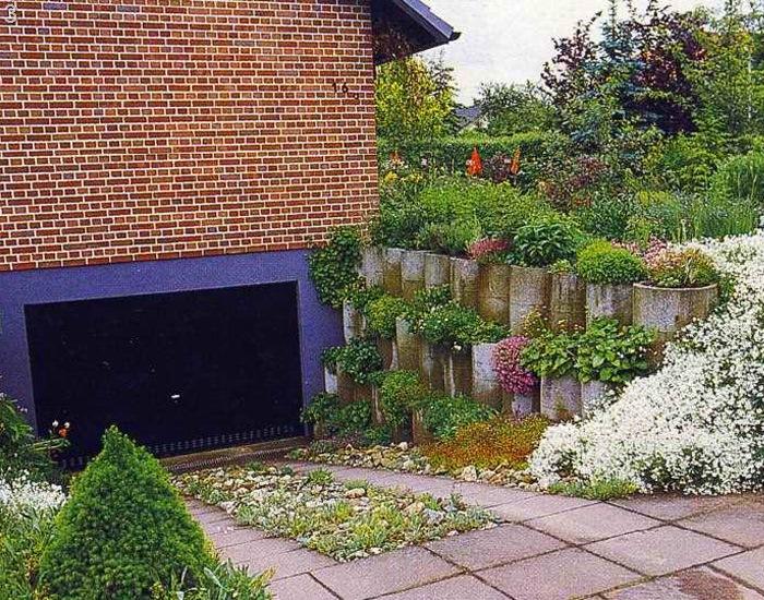 Геометрические фигуры оживят сад
