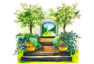Прием Trompe l'Oeil для сада