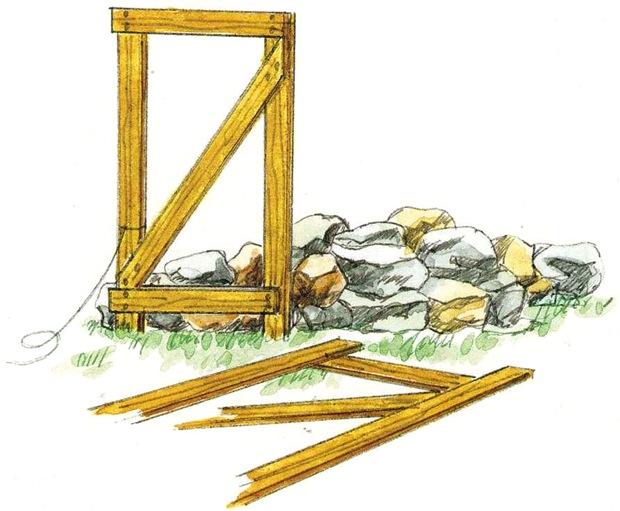 Сооружение подпорной стенки