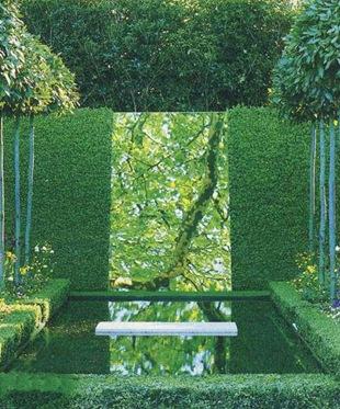 Идея для сада - зеркало и пруд